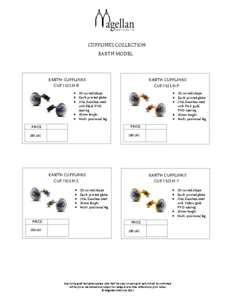 Order Form – Cufflinks